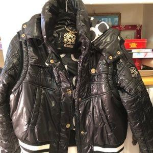 VERY CHIC! COOGI Black Puff Jacket